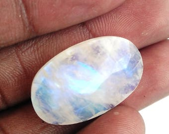 50% Off Christmas Offer Rainbow Moonstone Gemstone,,cabochon, faceted, shape oval, 17.30ct, 24x15x6mm, AM44
