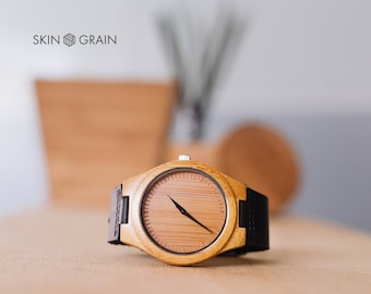 Wooden Watch, Personalized Mens Watch, Mens Engraved Watch for Him, Boyfriend Gift, 5th Anniversary Gift, Husband Gift, Watches for Men