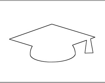 This is an image of Bewitching Graduation Cap Template Printable