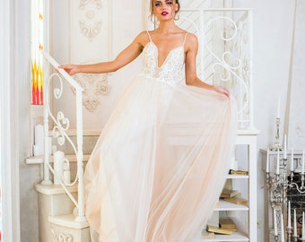 "New collection/ ""Amili"" gown/ Romantic Bridal desses/ Tulle pearls/  Wedding gown/bridal gown"
