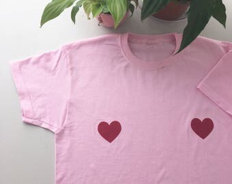Love heart boobs t-shirt