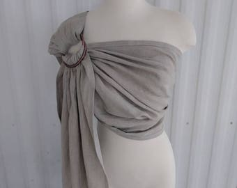 Ring Sling Baby Carrier Natural Pure Linen Baby Carrier Minimalist Shower Gift Baby Wearing Wrap Carrier Rose Gold Silver Custom