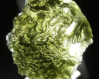"Moldavite ""Raw"" Piece 13.55gram Mueseum grade from Czechoslovakia"
