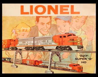 "Catalogue:  Lionel Trains ""027"", Super O, HO circa 1961"