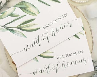 Wedding Party Card, Maid of Honour Proposal, Card, Will You Be My Maid of Honor, Maid of Honour Card, Maid of Honor Gift, Bridesmaid Card