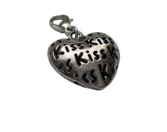 Heart pendant charms bracelet 3d pendant valentine Love