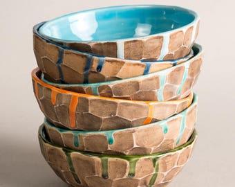 Ceramic pottery bowl, ceramic popcorn bowl, ceramic noodle bowl, ceramic fruit bowl, ceramic soup bowl, ceramic serving bowl, handmade bowl