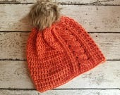 Cabled Beanie Crochet PAT...