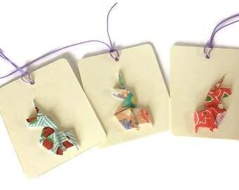 Gift tag birthday, christmais gift tag, unicorn tags x 3
