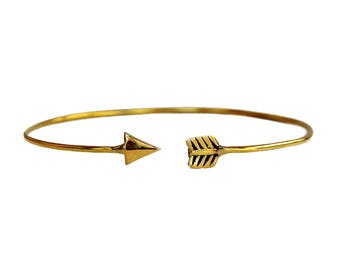 Arrow Bracelet, Boho Arrow Bracelet, Brass Arrow Bracelet, Arrow Cuff Bracelet, Thin Arrow Bangle, Gold Arrow Bracelet, Arrow Jewelry
