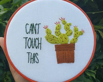 Cactus Art, Succulent Art, Wall Art, Embroidery Hoop, Cactus Wall Art, Cactus gift, Gift for her, Cacti gift, Cactus Embroidery