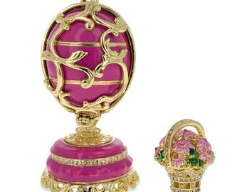 """1899-1903 Spring Flowers in Pink  Russian Faberge Egg 3"""""""