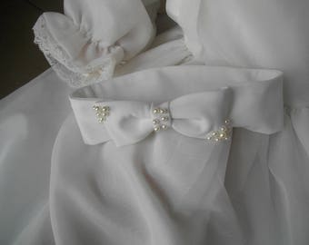 Perfect baby girl headband christening ceremony wedding party hair bow tie beaded