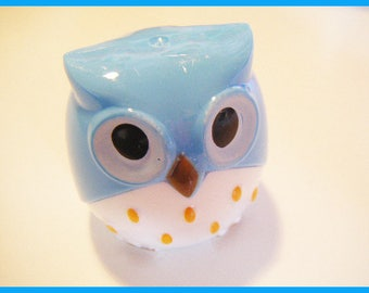 Blue OWL - stationery desk Pencil Sharpener