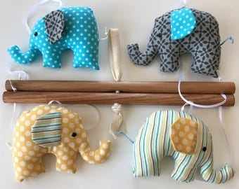 Elephants baby mobile