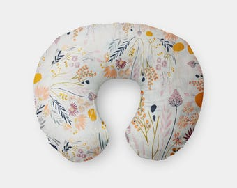 Beautiful Floral Boppy Cover, Wispy Daybreak Boppy cover, Floral, Wildflowers, baby girl boppy cover, nursing pillow cover, boppy cover