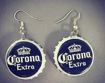 Corona Bottle Cap Earrings- Basic