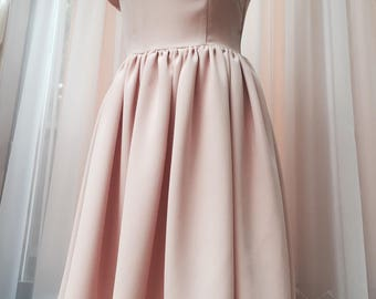 Pale  Pink dress, party dress, bridesmade dress, occasion dress.