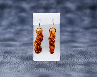 Phoenix Yarn Skein Earrings Handmade