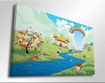 Childrens Islamic Cartoon canvas