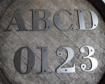 Small Metal Initials Metal Letters  Etsy