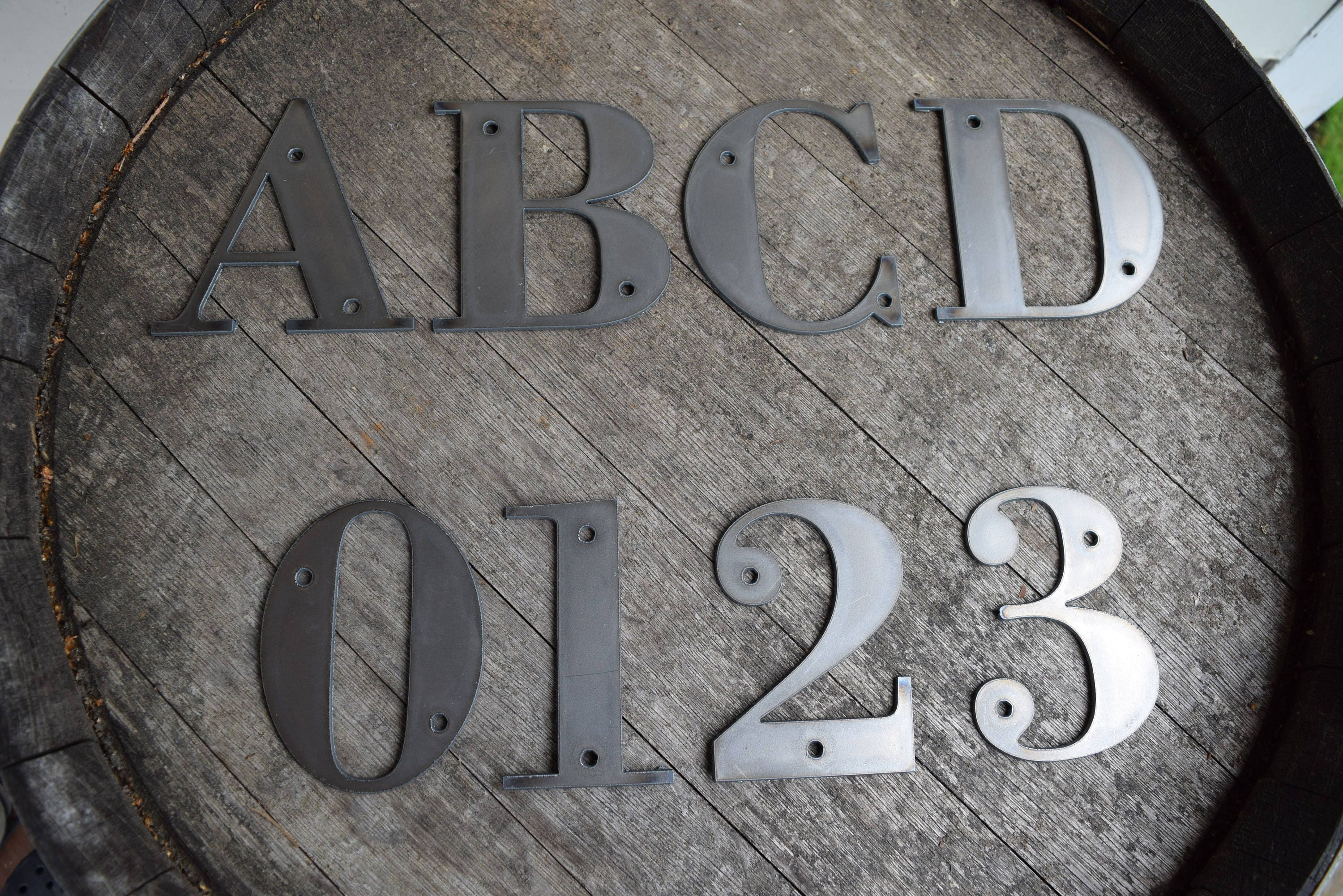Metal Outdoor Letters And Numbers 412 Tall Metal Letters And Numbers  Rustic Letters  Metal