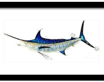 Blue Marlin Printable Art