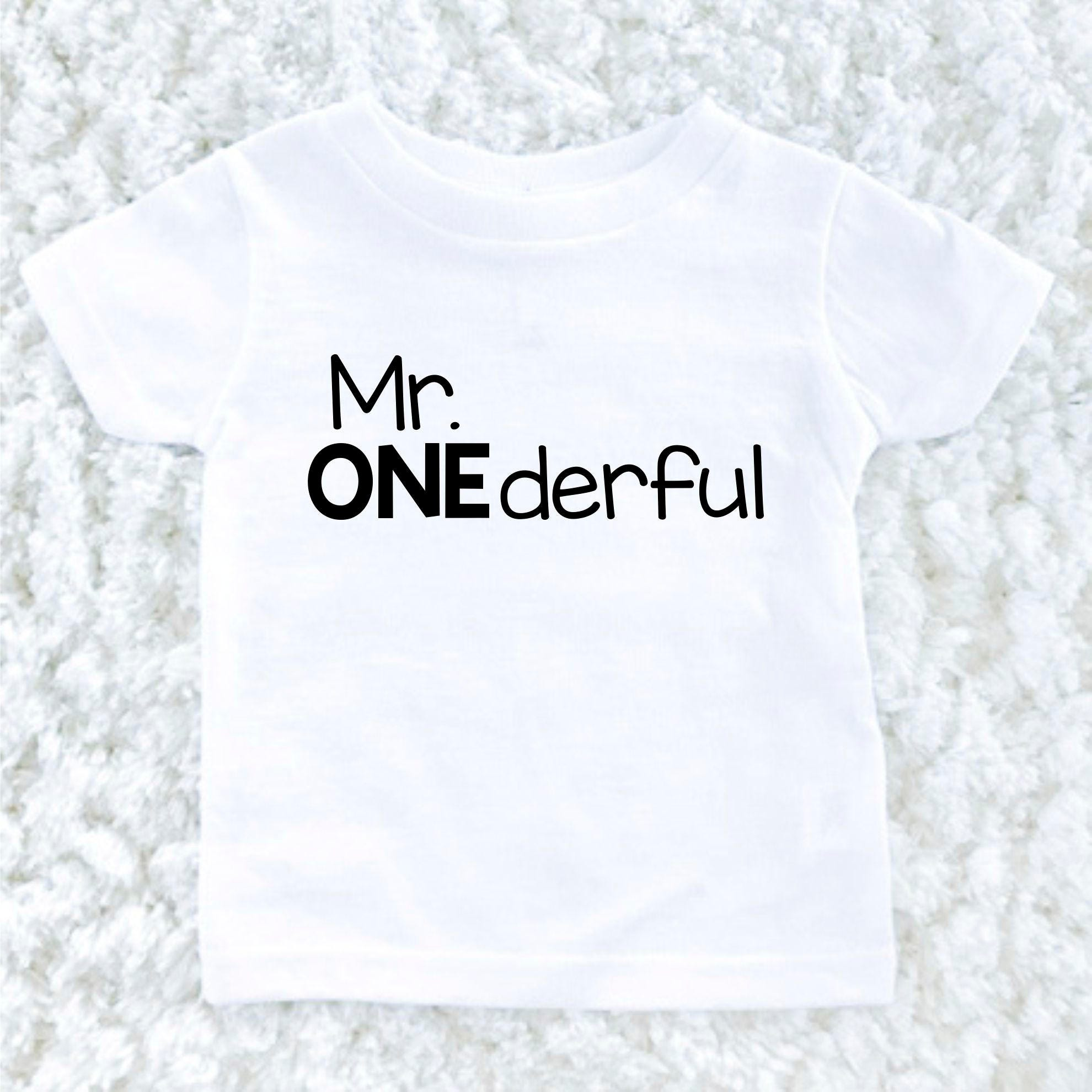 Mr Onederful Birthday Shirt
