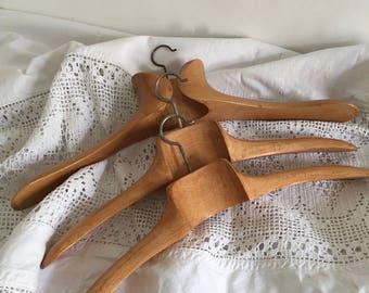 Set of 3 vintage hangers