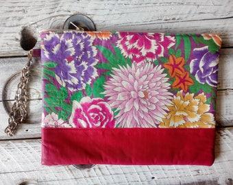 Flower handbag clutch bag