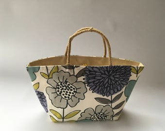 Purple flower dahlia bag