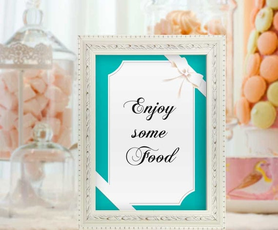 Baby Shower Food Sign Baby And Co Decor Breakfast Baby Shower