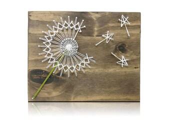 Dandelion Mini String Art Kit -Dandelion String art, DIY Crafting Kit, Crafts Kit, Crafts for Adults, Dandelion Decor, all supplies included