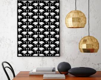 OSTRICH - Art Print - FREE Uk SHIPPING - Giclee Print - A2
