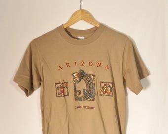 Vintage southwest t shirt// 90s Arizona travel souvenir bohemian desert tee// PSI sportswear made in USA// Unisex womens size small S