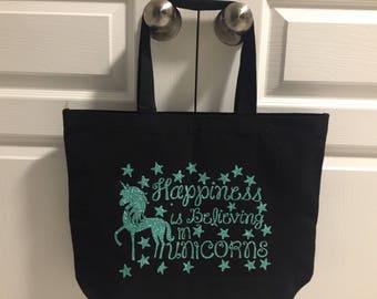 Personalized Unicorn Tote Bag