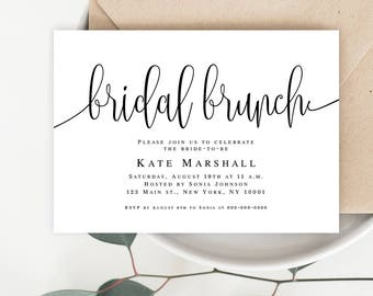 Bridal brunch invitation diy Editable bridal shower invitation Bridal brunch invitation instant download Shower brunch invitation rustic
