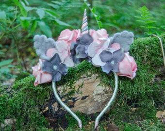 Unicorn Headband/flower wreath/unicorn Headpiece/Flower crown