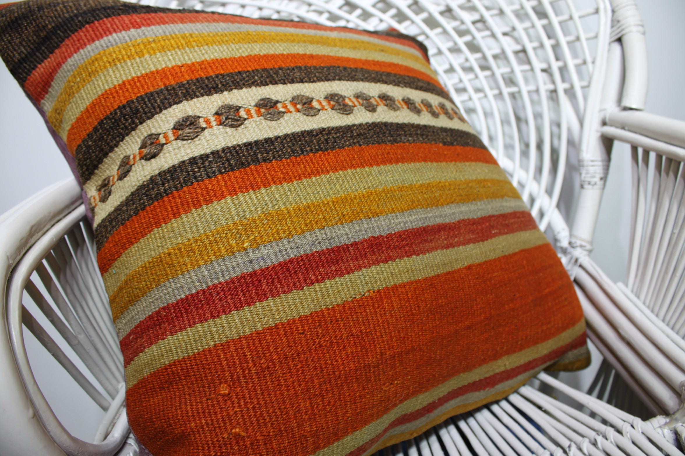striped pillow covers rustic pillow nomadic kilim pillows vintage