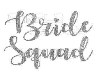 Bride Squad iron on transfer, Bridal party shirts, Bridal party stickers, Bachelorette Party, Bride Squad Sticker