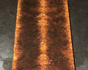 Stabilized Resinous York Gum Burl Knife Scales E-021