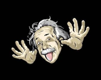 Albert Einstein - 8 x 10 - T Shirt Iron On Transfer -