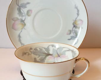 Epiag Czechoslovakia Pastelle Pattern Tea Cup and Saucer