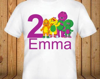 Barney and Friends Birthday Shirt - kids Birthday Shirts - Personalized Shirts - Custom Shirts - Kids - Birthday Shirts-