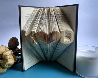 Wedding Gift for the Couple, Folded Book Art made from a love story
