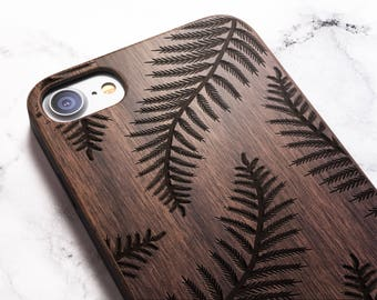 Real Wood iPhone 8 leaf case also for X SE 5s 5 6 6s 7 and 7 Plus 8 Plus Case iPhone 8 Case Samsung Galaxy S6 S7 S8 Plus Real Wood