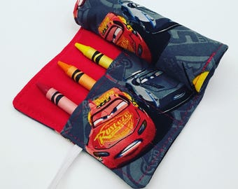 Cars Crayon Roll-up