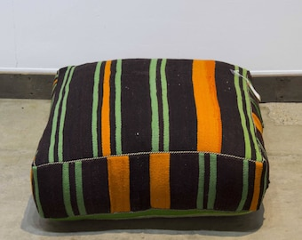 Vintage moroccan floor pouf pillow