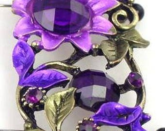 1 very large butterfly floral focal bead 8427-H7