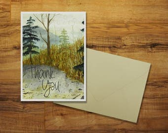 A Pacific Northwest Thank You Greeting Card